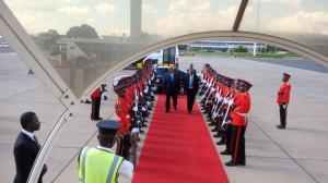 Rupiah Banda visiting Malawi after the elections