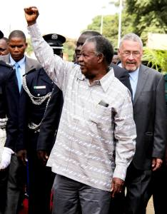 Michael Sata and Guy Scott