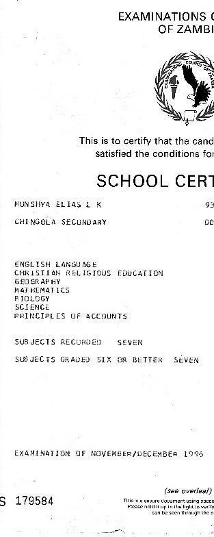 High School Transcript for 10072114